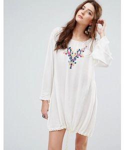Glamorous | Свободное Платье С Затягивающимся Шнурком И Вышивкой