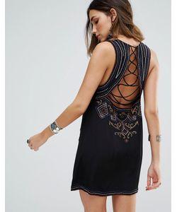 Free People | Цельнокройное Платье С Вышивкой Manadala