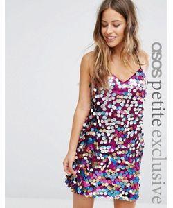 ASOS PETITE | Платье На Тонких Бретельках С Пайетками