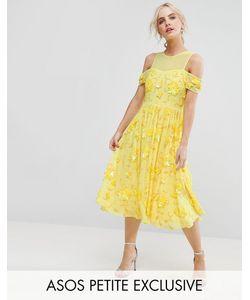 ASOS PETITE | Платье Миди С Отделкой И Вырезом