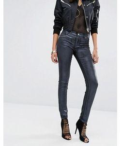 Versace | Зауженные Джинсы С Классической Талией И Покрытием Металлик Jeans