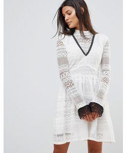 Millie Mackintosh | Кружевное Платье С Высоким Воротником