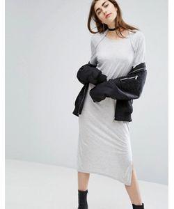 Cheap Monday | Длинное Трикотажное Платье С Овальным Вырезом Сзади
