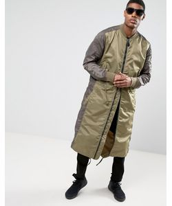Maharishi | Удлиненная Куртка С Асимметричным Краем Ma1