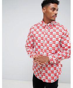 HYPE | Рубашка В Клетку С Принтом Логотипа X Coca Cola
