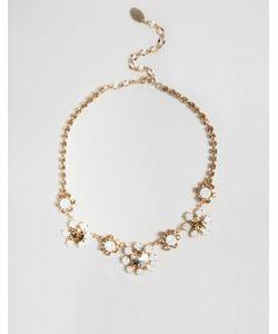 Krystal | Ожерелье С Цветами И Стразами Swarovski London