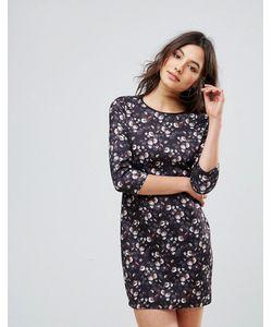 Qed London | Платье Мини С Длинными Рукавами И Цветочным Принтом