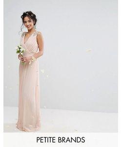 TFNC Petite | Плиссированное Платье Макси С Отделкой На Плечах Wedding