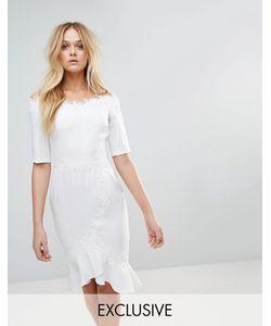 Paper Dolls | Платье Миди Со Спущенными Плечами И Кружевной Отделкой