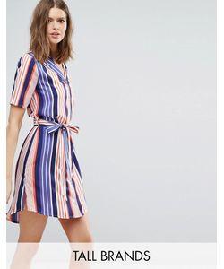 Influence Tall | Платье-Рубашка В Полоску