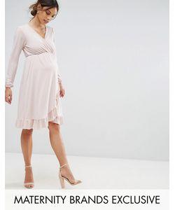 Bluebelle Maternity | Платье С Запахом И Оборкой По Краю