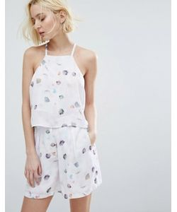 Native Youth   Cami Crop Top In Watercolour Print Co-Ord