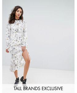 Glamorous Tall | Платье Макси С Цветочным Принтом И Асимметричным Краем