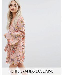 Glamorous Petite | Платье На Пуговицах С Цветочным Принтом