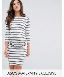 ASOS Maternity   Облегающее Платье В Двойную Полоску Petite
