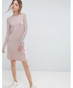 Asos | Облегающее Платье Миди С Полосками На Рукавах