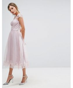 Chi Chi London | Кружевное Платье Миди Premium