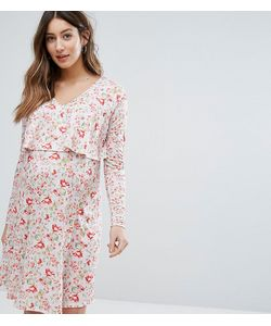 Bluebelle Maternity | Двухслойное Платье Для Кормления С Цветочным Принтом
