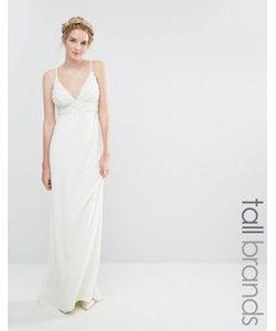 Maya Tall | Свадебное Платье Макси С Отделкой Жемчугом И Шлейфом