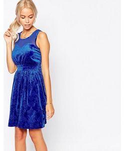 Jasmine | Короткое Приталенное Платье Из Бархата