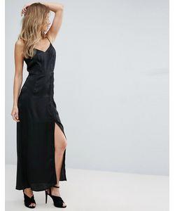 Amy Lynn | Платье-Комбинация Макси С Кружевом