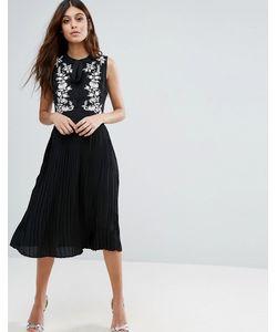 Little White Lies | Короткое Приталенное Платье С Вышивкой Anouk
