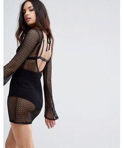 MISSGUIDED | Платье Из Кроше С Открытой Спиной