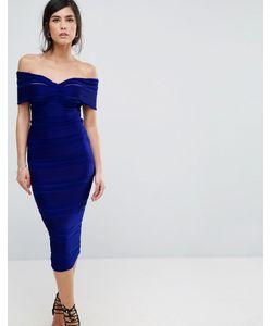 Honor Gold | Платье-Футляр Миди С Открытыми Плечами