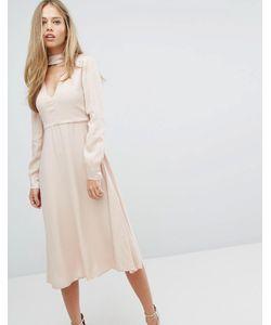 Max & Co. | Платье С V-Образным Вырезом И Чокером Maxco Perlage