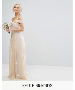TFNC Petite | Платье Макси С Открытыми Плечами И Отделкой Wedding
