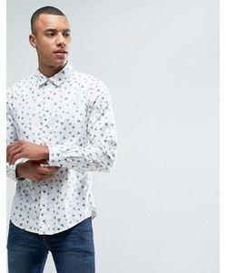 Esprit | Рубашка На Пуговицах С Принтом В Виде Треугольников