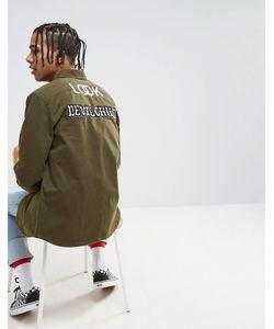 Asos | Рубашка Навыпуск С Принтом На Спине X Lot Stock