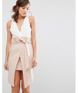 Parallel Lines | Платье 2 В 1 С Запахом И Завязкой На Талии Parallel