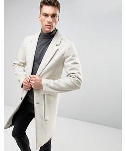 Asos | Светло-Бежевое Полушерстяное Пальто