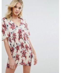MISSGUIDED | Плиссированное Платье С Цветочным Принтом