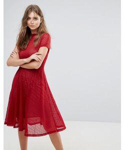 Goldie | Расклешенное Кружевное Платье Миди