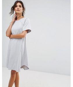 Closet London | Цельнокройное Платье С Закругленной Кромкой