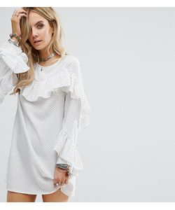 Glamorous Petite | Платье В Горошек С Оборками