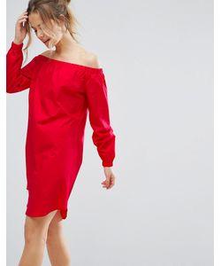 Closet London | Цельнокройное Платье С Открытыми Плечами
