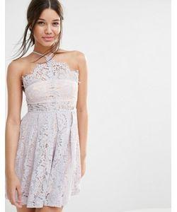 MISSGUIDED | Короткое Приталенное Платье Из Кружева С Бретельками