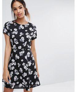 Poppy Lux | Короткое Приталенное Платье С Цветочным Принтом