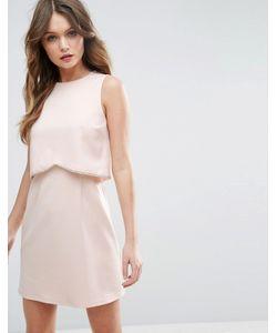 Asos | Платье Мини С Кроп-Топом И Декоративной Отделкой