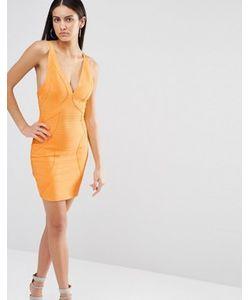 MISSGUIDED | Бандажное Облегающее Платье Premium