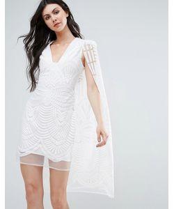 Lavish Alice | Кружевное Платье Мини С Накидкой