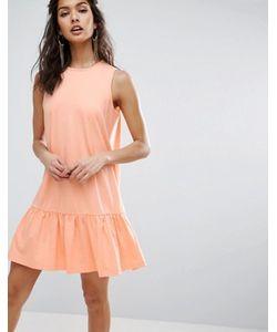 Asos | Свободное Платье Без Рукавов С Оборкой По Низу