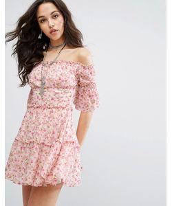 MISSGUIDED   Платье Мини С Цветочным Принтом