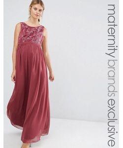 Chi Chi Maternity | Платье Макси Для Беременных С Вышивкой На Лифе Chi Chi London
