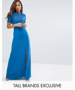 Maya Tall | Платье Макси С Разрезом До Бедра И Пайетками На Топе Maya