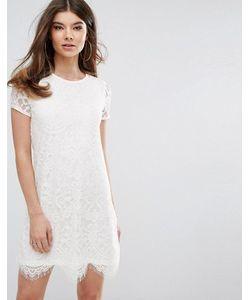 Lipsy   Цельнокройное Кружевное Платье
