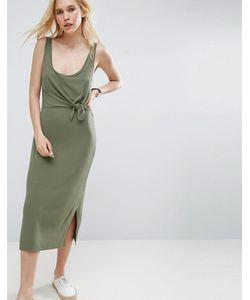 Asos | Платье-Майка С Укороченным Верхним Слоем На Лифе